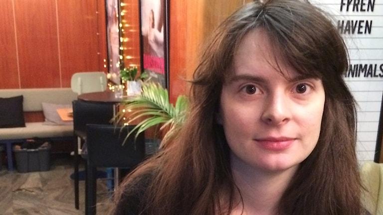 """Maria Eriksson, filmregissör. Har skrivit uppsatsen: """"Att regissera barn""""."""