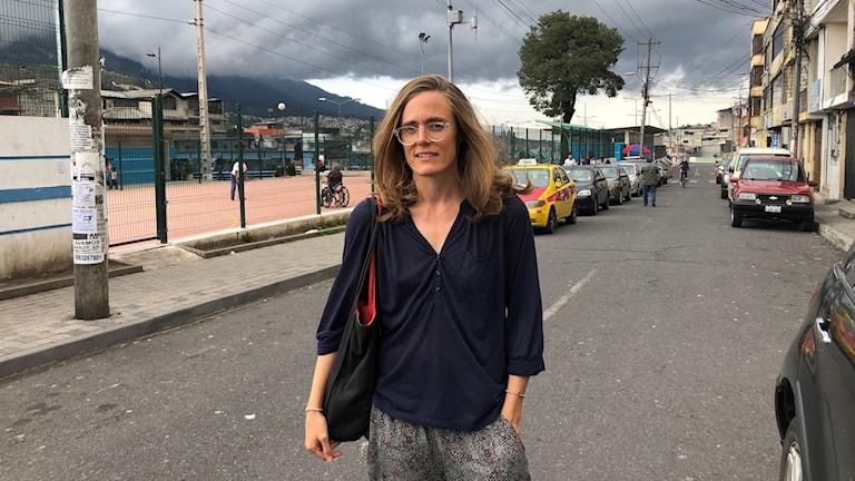 Lotten Collin på plats i Quito