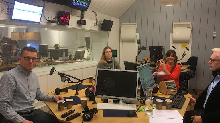 Johannes Åman, Karin Pettersson, Carolin Dahlman och Olle Hägg.