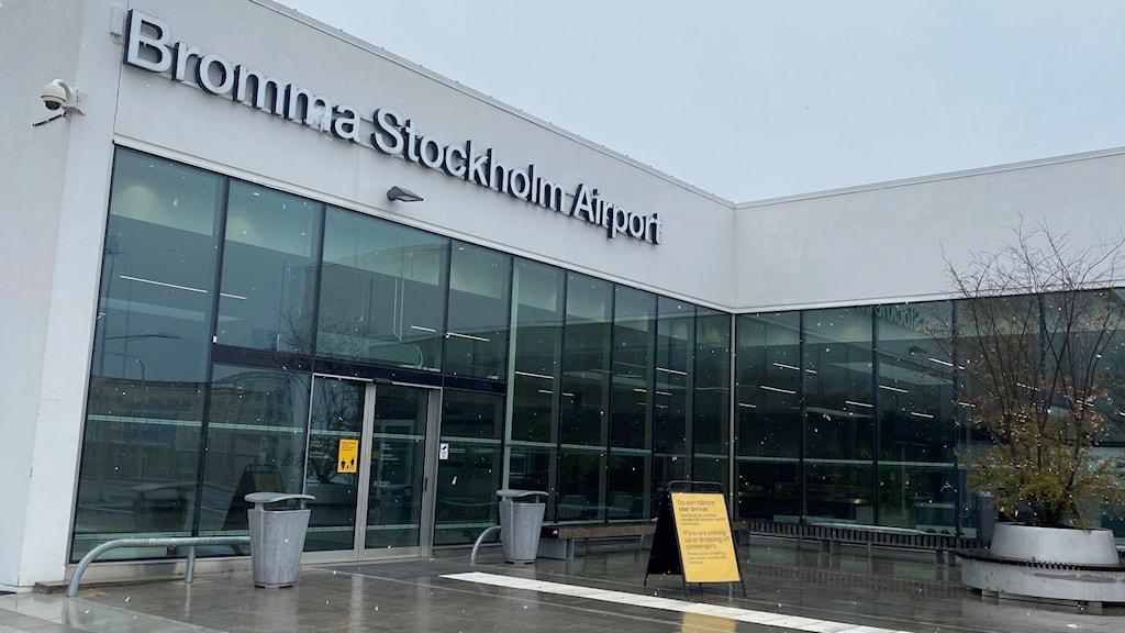 Nya ankomsthallen på Bromma flygplats.