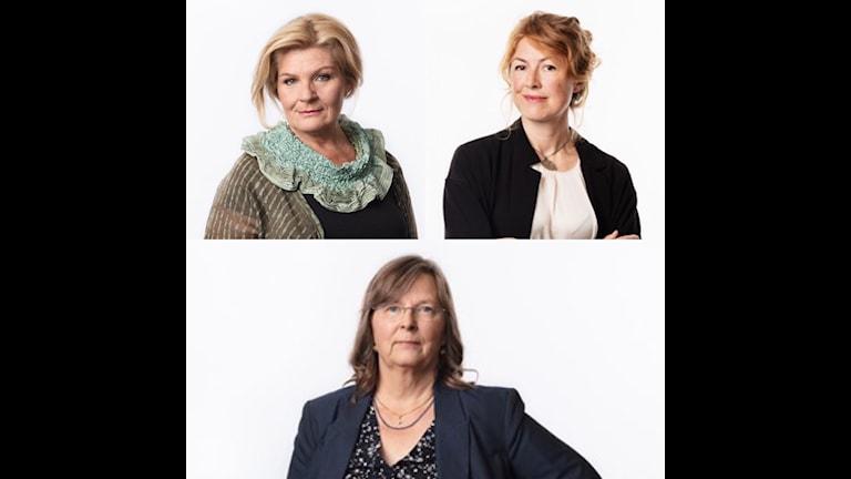 SR:s korrespondenter, Cecilia Uddén, Kairo, Kajsa Boglind, Washington och Maria Persson Löfgren, Moskva.