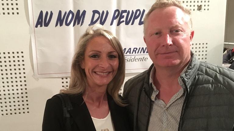 . Marie-Lin och Christophe Denimal är två av Nationella frontens väljare.