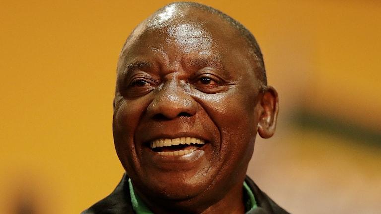 ANC:s nya partiledare Cyril Ramaphosa