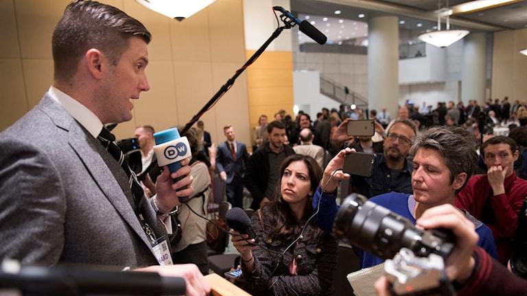 Richard Spencer, talesperson för den nynazistiska organisationen National Policy Institute i USA