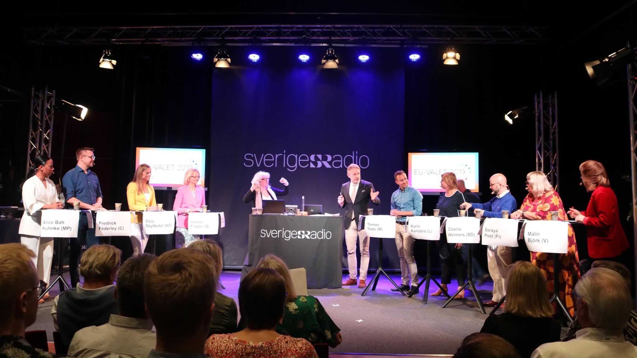 Toppkandidaterna under debatten.