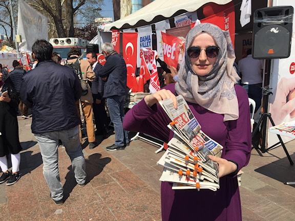 Büshra, kampanjarbetare i Beşiktaş