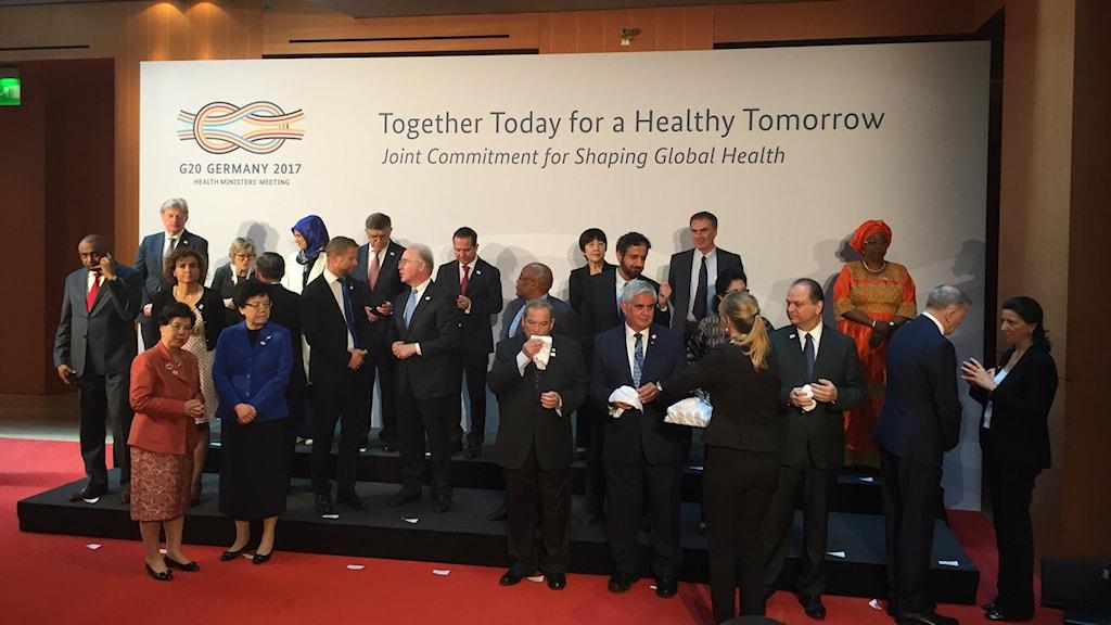 Hälsoministrarna på G20 mötet.