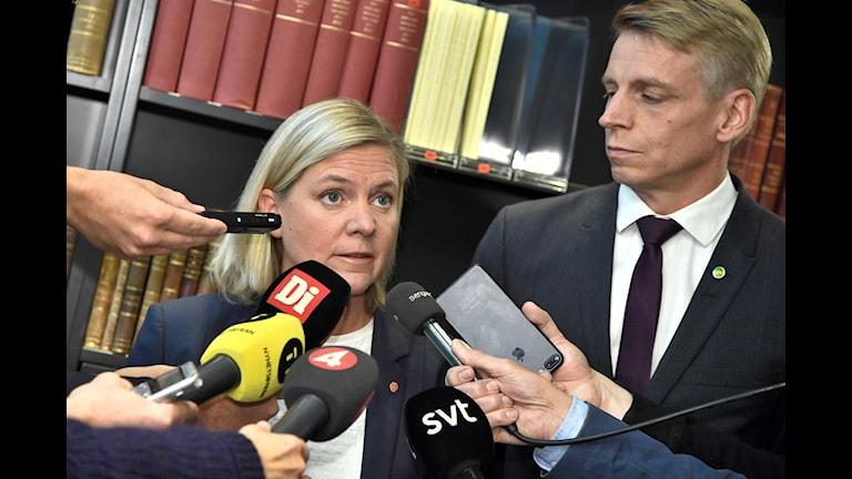 Finansminister Magdalena Andersson kommenterar Nordeas flytt av huvudkontoret till Finland.
