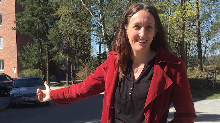 Författaren och journalisten Katarina Bjärvall har gjort liftandet till livsstil.