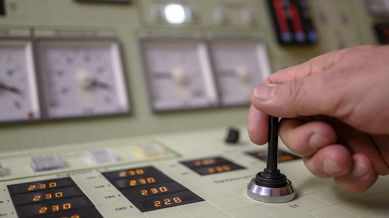 Kontrollrum i Ringhals kärnkraftverk