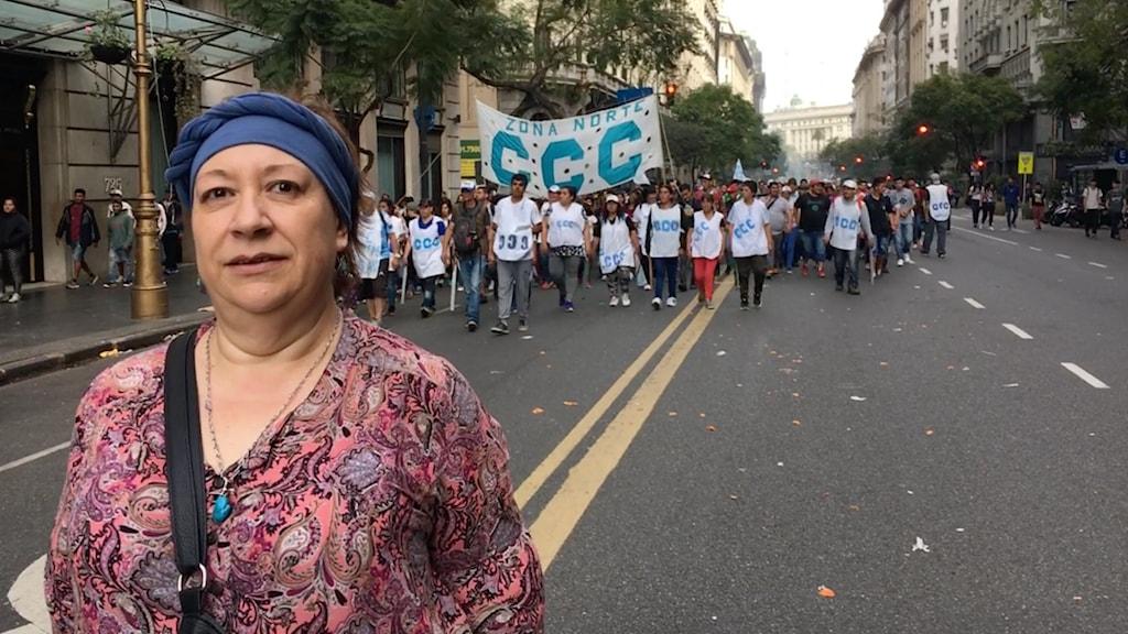 Läraren Claudia Gerviño