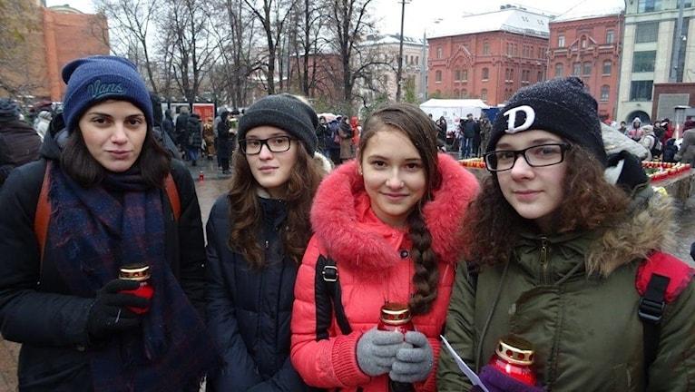 Lärare och elever i Moskva