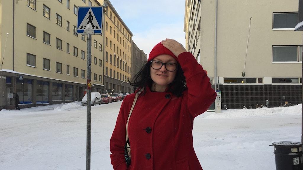 """""""Wow?!, var min första tanke. Jag hade ingen aning om att jag var med i ett sådant lotteri."""" Liisa Ronkainen kommer att få 560 Euro/månad."""