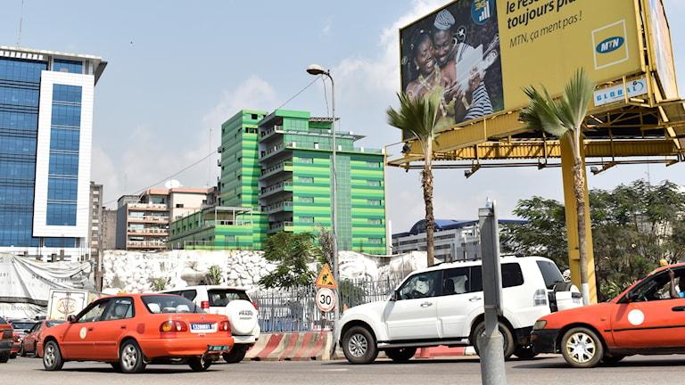 Elfenbenskustens ekonomiska huvudstad Abidjan.