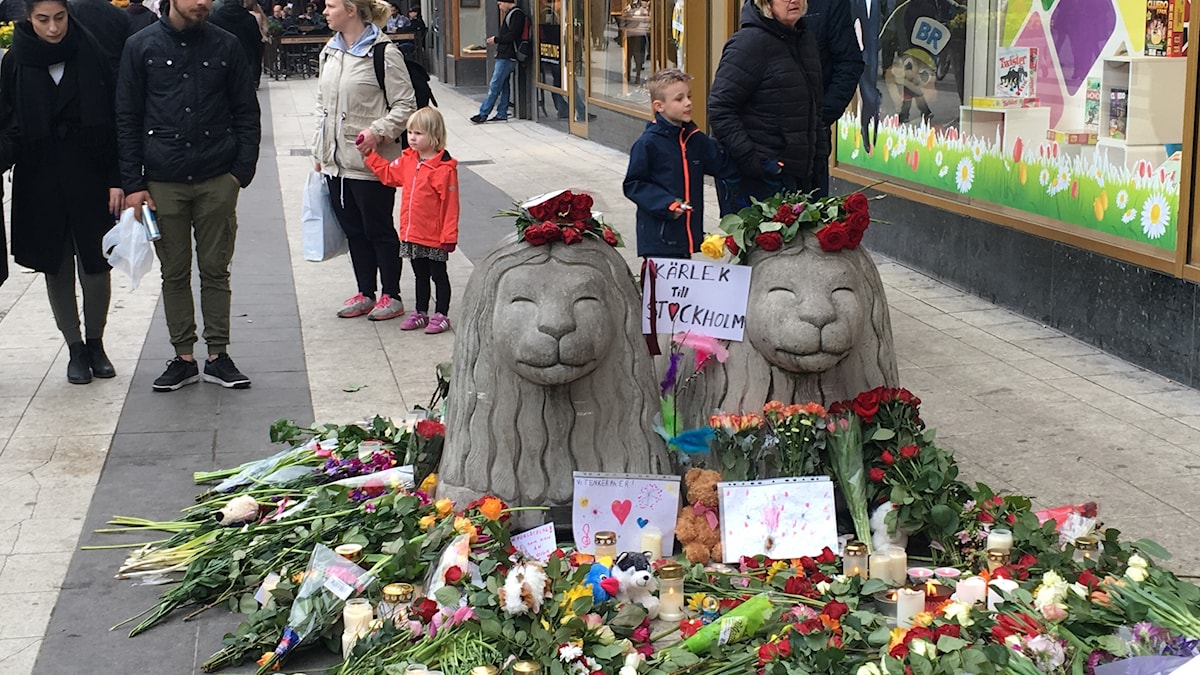 Blommor på Drottninggatan