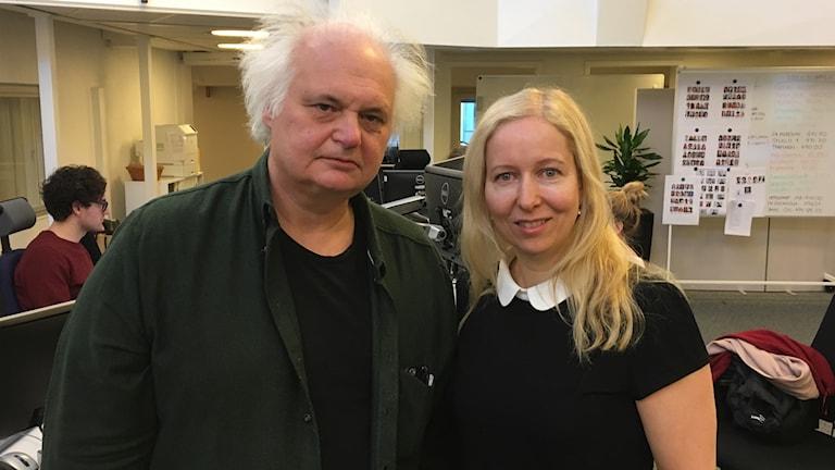 Göran Greider och Anna Dahlberg