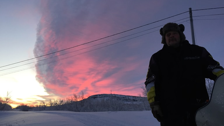 Polarmörkret när det är som ljusast 12/12 i Keinovoupio 2 mil från Treriksröset.