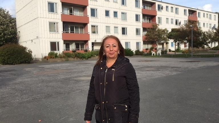 Sabriya Yousif i Göteborgsförorten Tynnered.