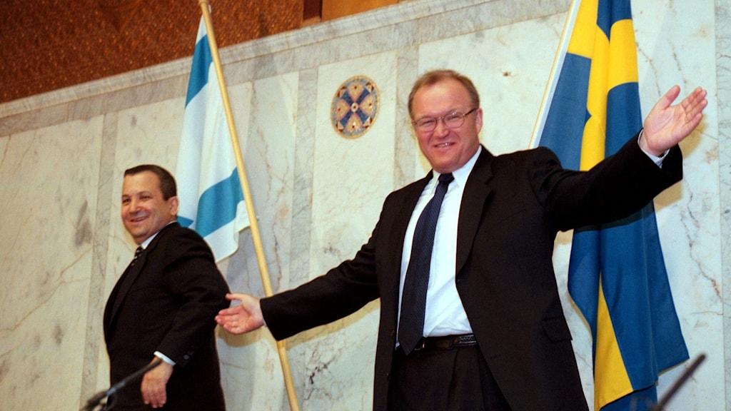 Ehud Barak och Göran Persson