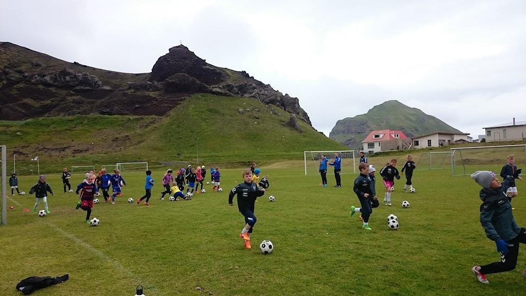 Träning på isländska Västmannaöarna