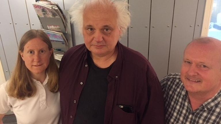 Susanne Nyström, Göran Greider och Dick Erixon.