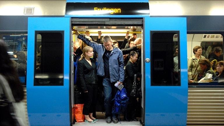 Tunnelbanan i Stockholm.