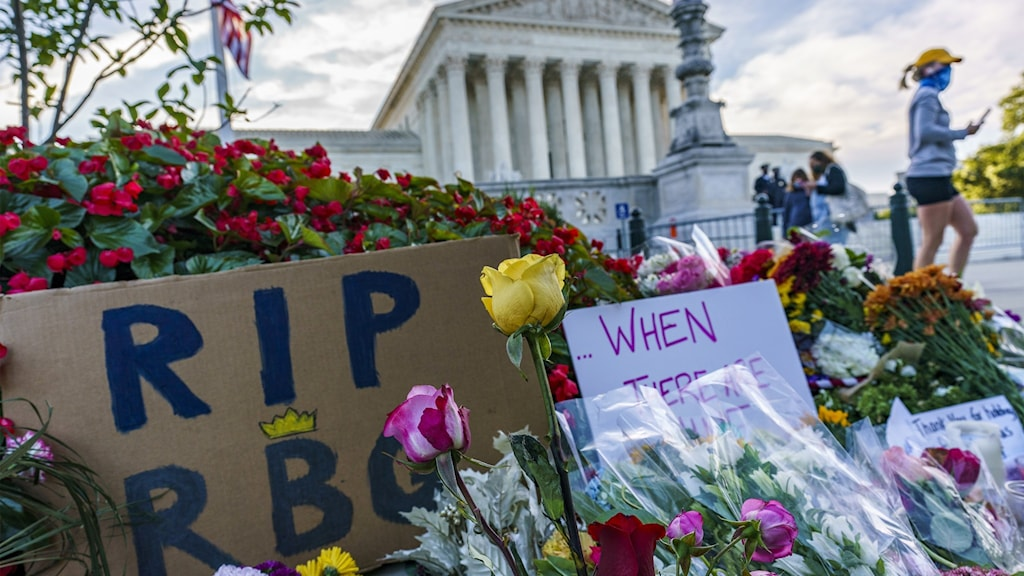 Sorg efter domare Ginsburgs död