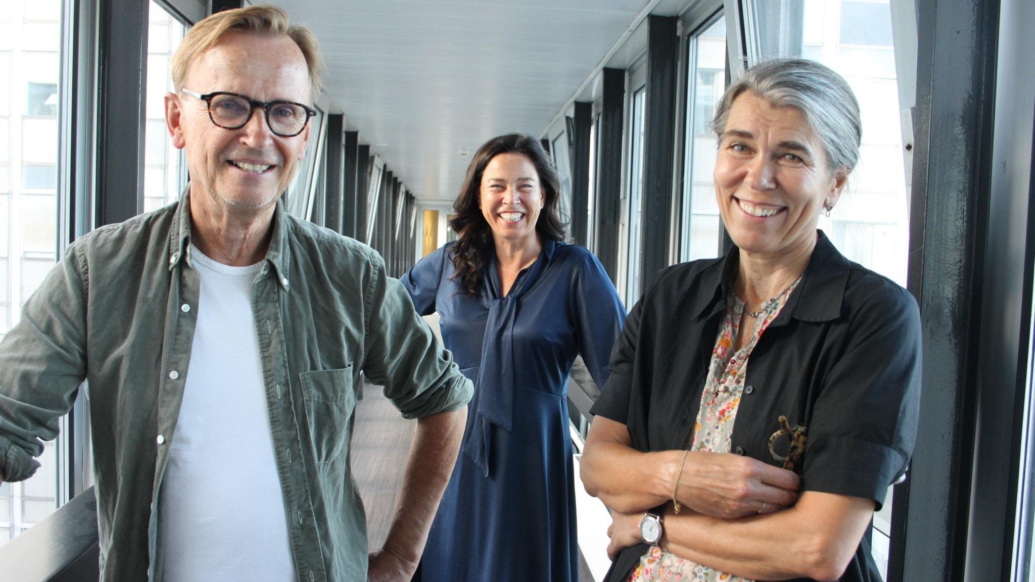 Johan Ulveson, Marie Lundström och Cilla Naumann.