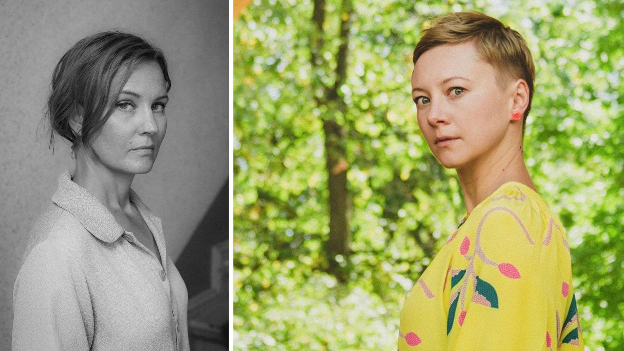 Den svenska poeten Ida Börjel och Valzhyna Mort, poet från Belarus bosatt i USA.