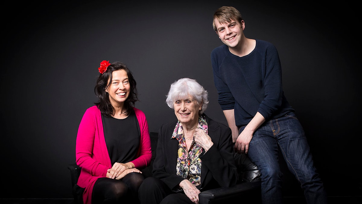 Marie Lundström, Kerstin Ekman och Christoffer Carlsson. Foto: Mikael Grönberg / Sveriges Radio