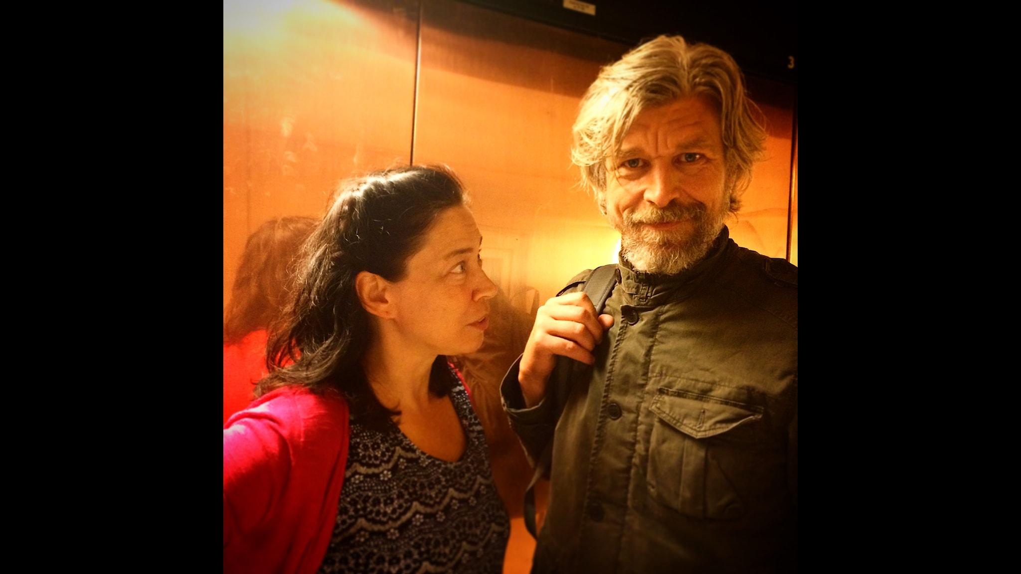 Marie Lundström och Karl Ove Knausgård.