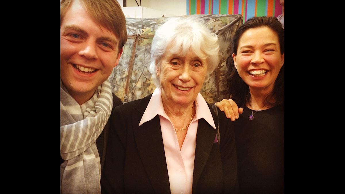 Christoffer Carlsson, Kerstin Ekman och Marie Lundström.