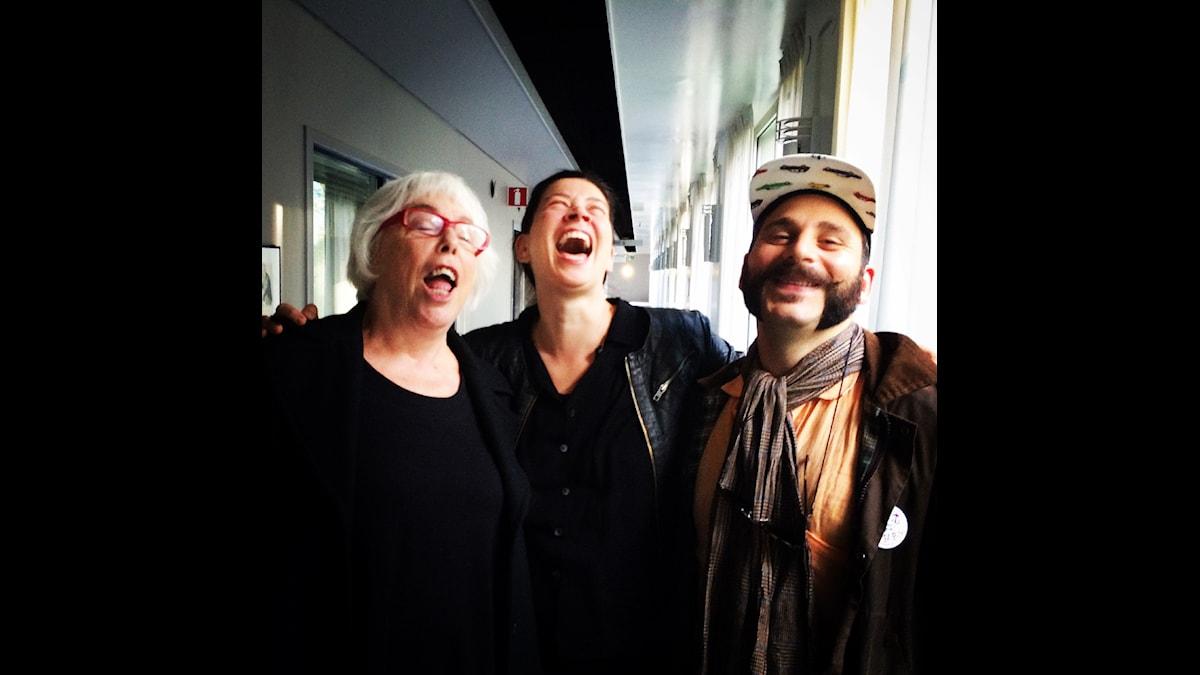 Yvonne Hirdman, Marie Lundström och Daniel Boyacioglu.
