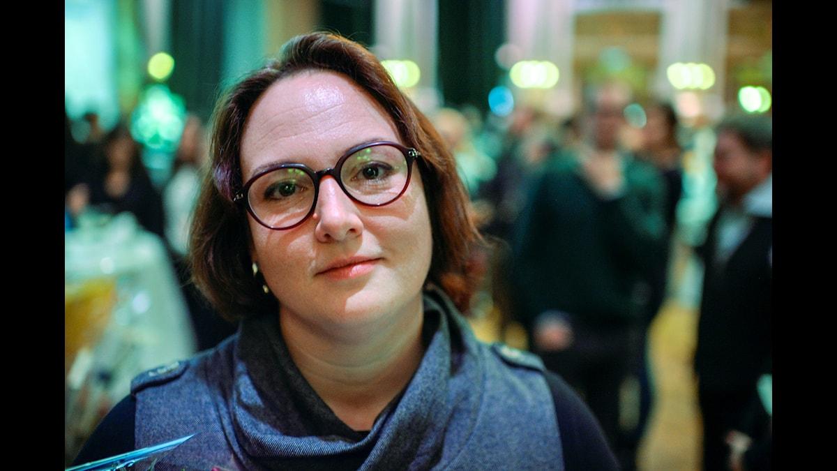 Författaren Jessica Schiefauer. Foto: Wilhelm Stokstad, TT.