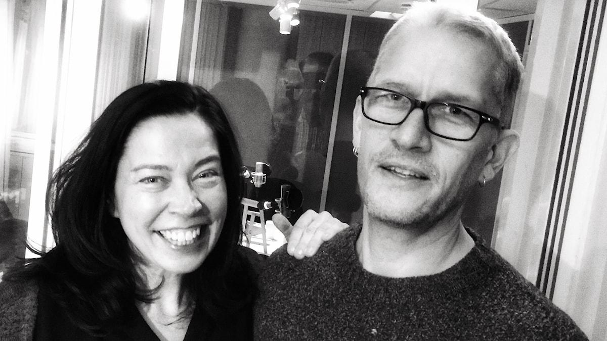 Marie Lundström och poeten Mats Söderlund
