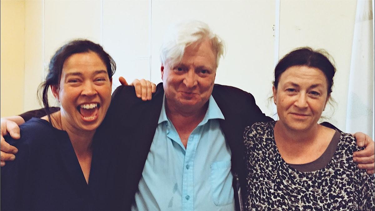 Marie Lundström, Stig Larsson och Ann Jäderlund på samma bild!