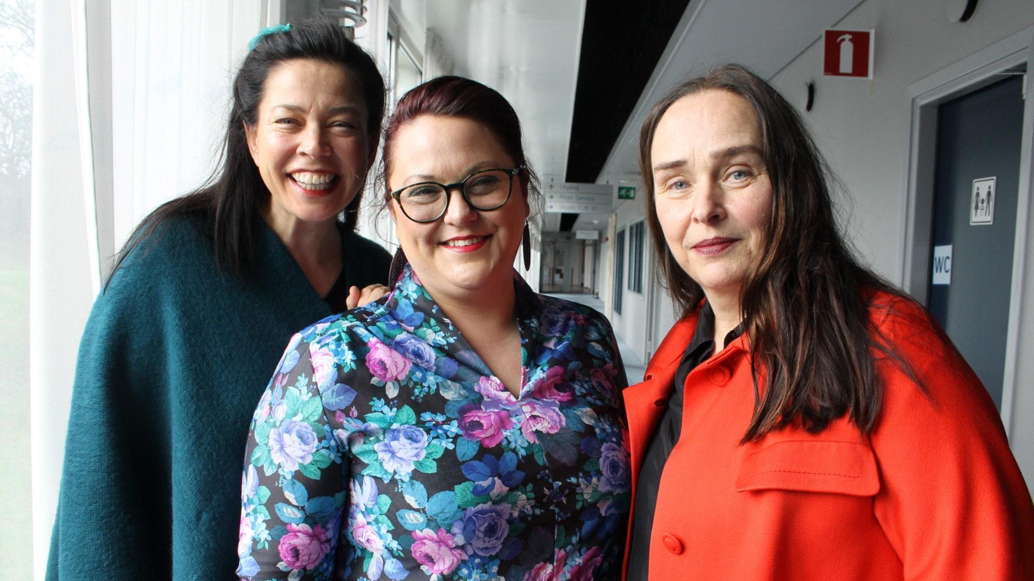 Marie Lundström, Malin Haawind och Estrid Hiolm.