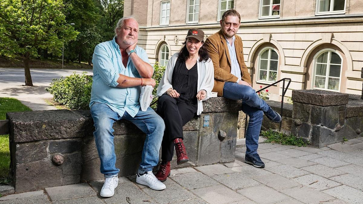 Plura Jonsson, Marie Lundström och Fredrik Virtanen