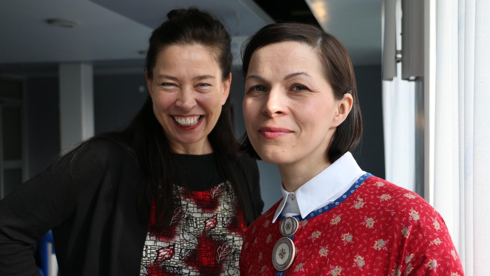 Marie Lundström och Elian Anna Labba.