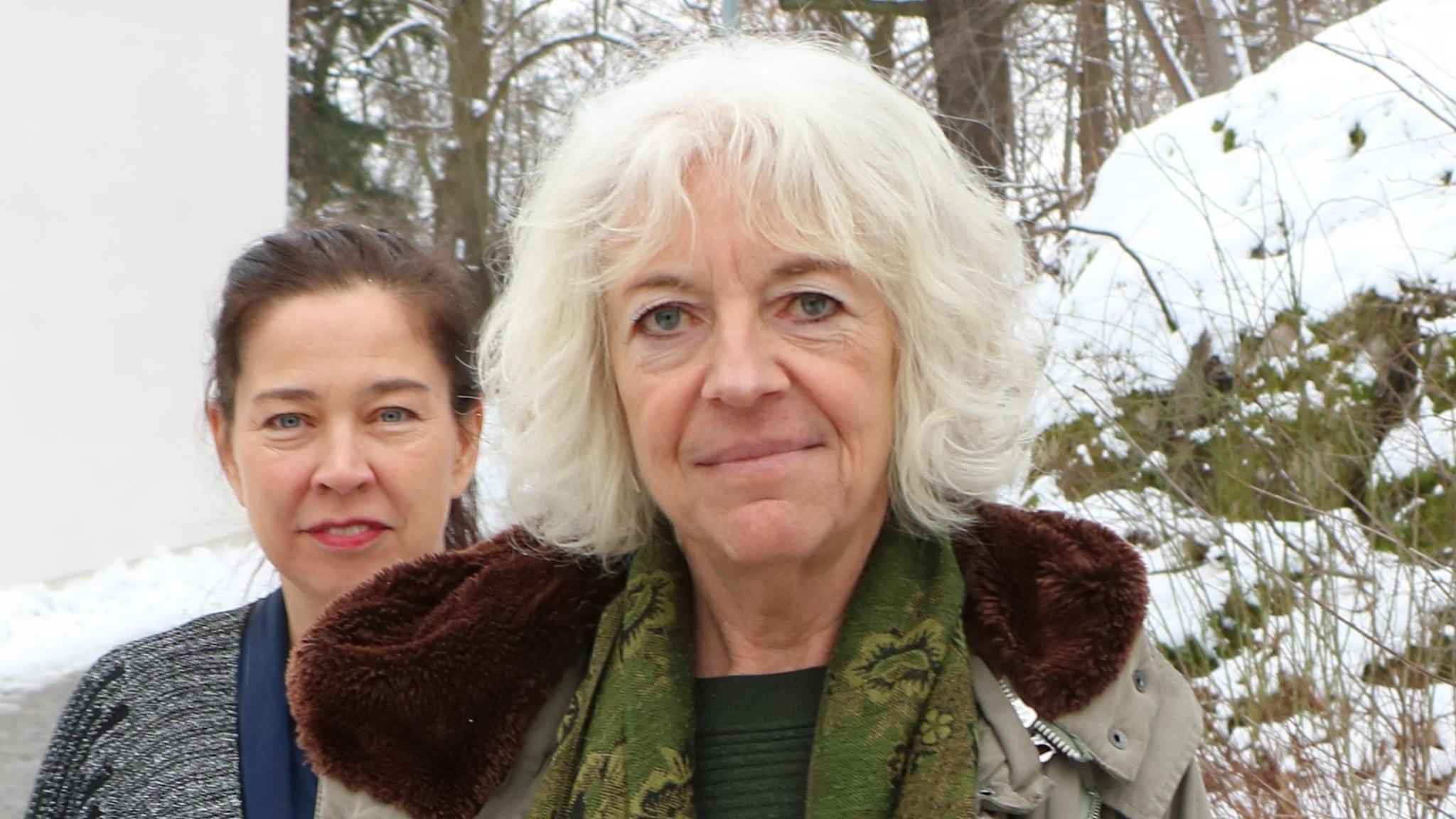 Marie Lundström och Margit Silberstein.