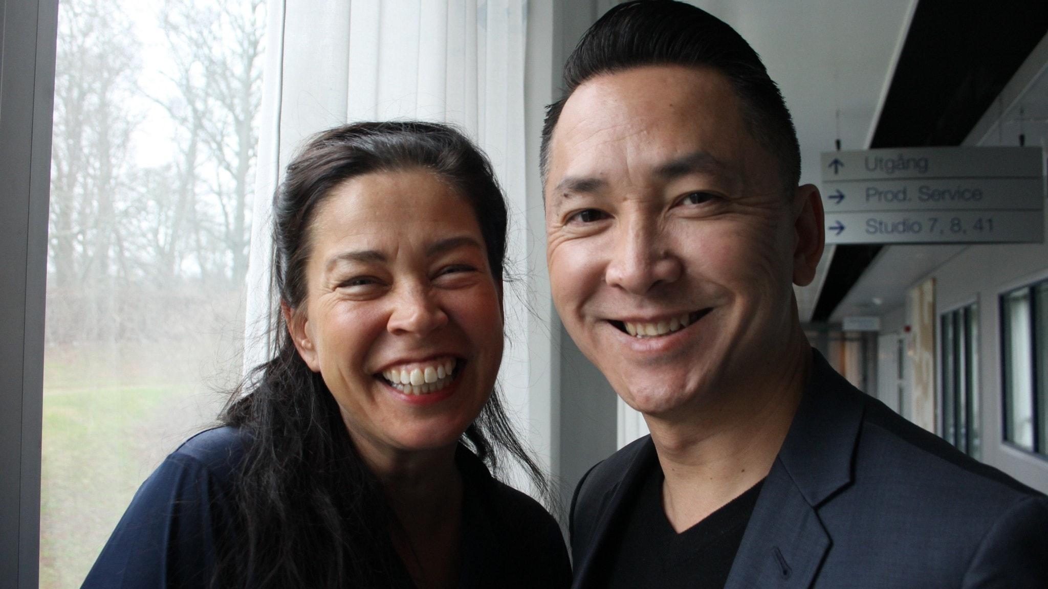 Marie Lundström och Viet Thanh Nguyen.