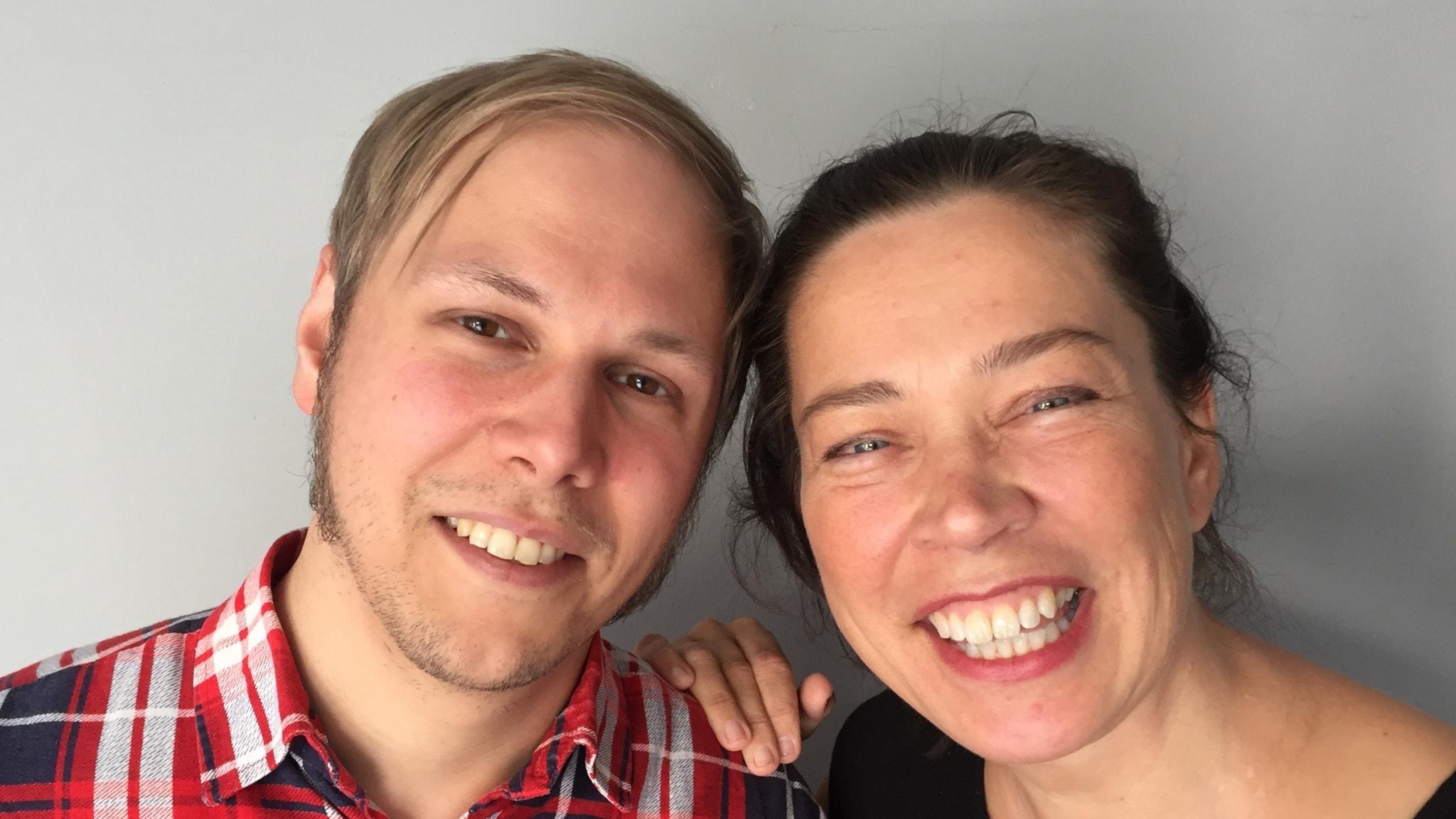 Poeten David Väyrynen med Marie Lundström