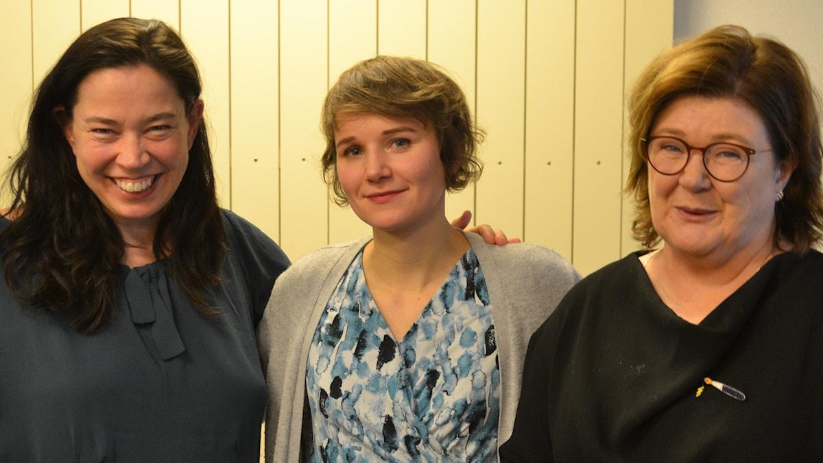 Iiris Viljanen, Majgull Axelsson och Marie.