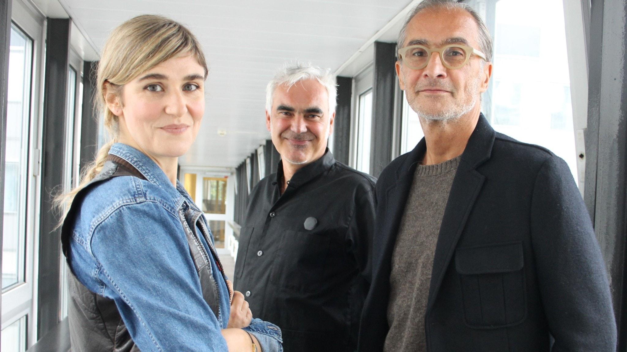 Lisa Langseth, Kristofer Lundström och Aris Fioretos.