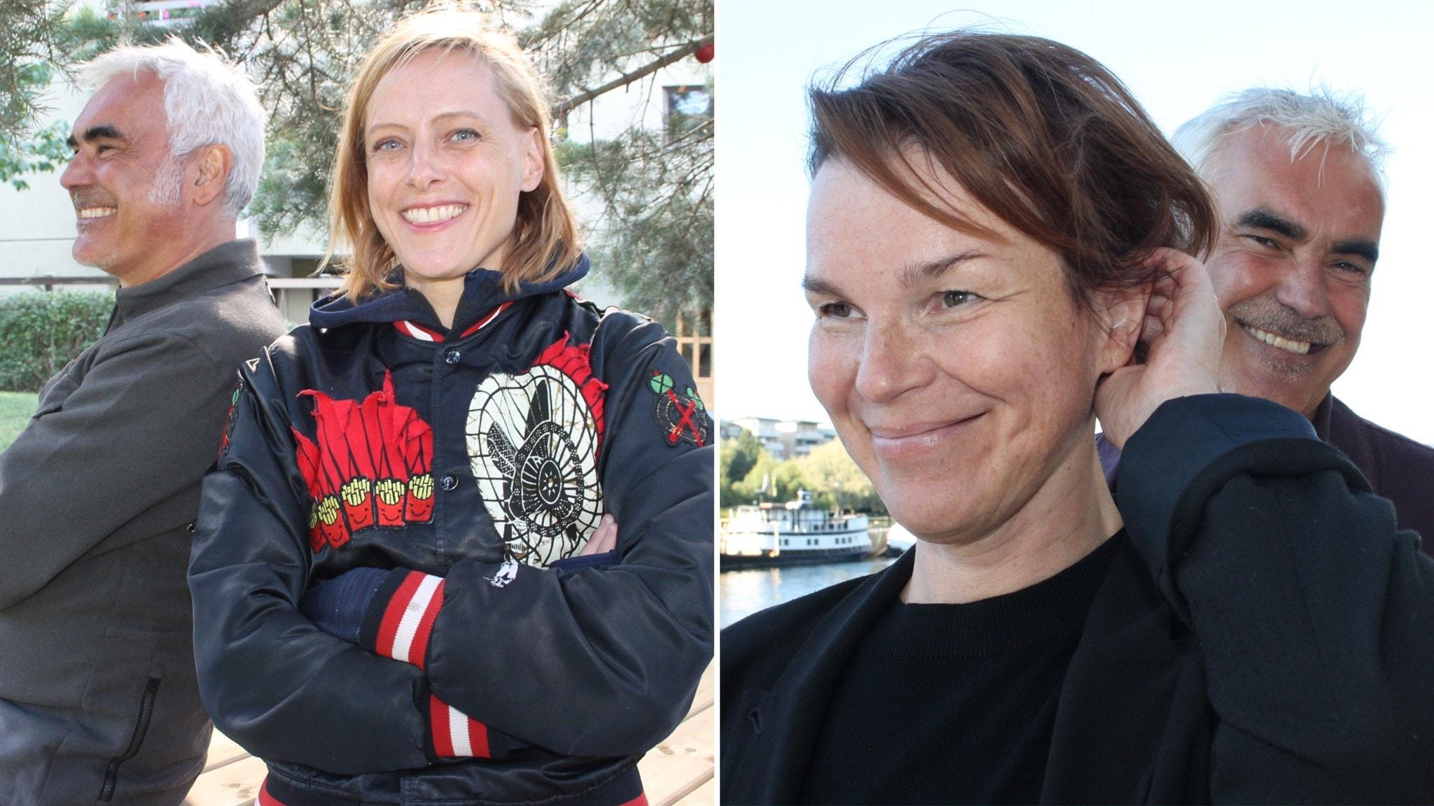 Debutanterna Wanda Bendjelloul och Anna Järvinen i Lundströms Bokradio