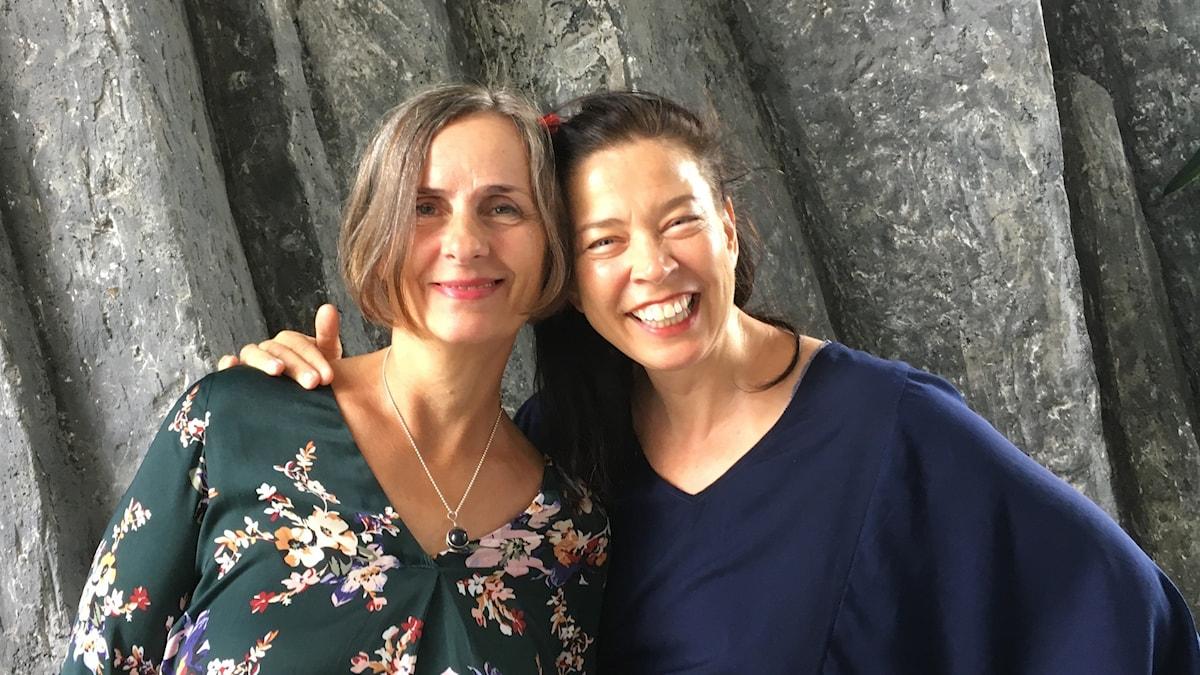 Författaren Susanna Alakoski gäst hos Marie Lundström. Lundströms Bokradio i P1 den 7 september 2019. Foto: Thella Johnson/Sveriges Radio
