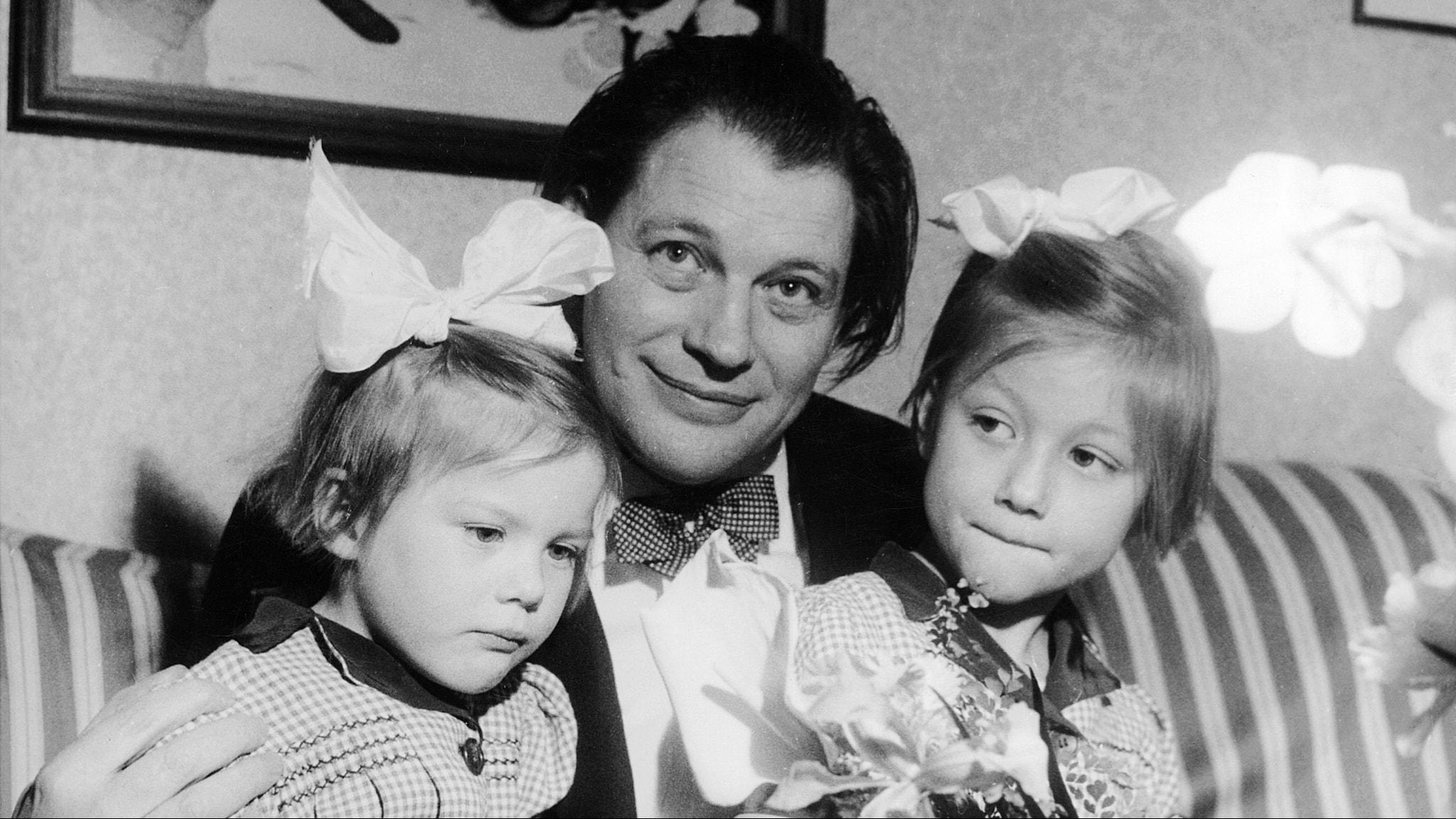Harry med döttrarna