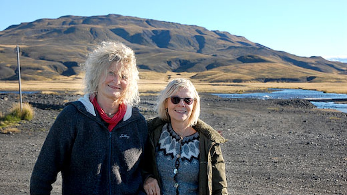 Mia Gerdin och Ulla Strängberg på Island