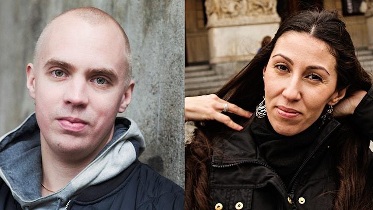 Måns Mosesson och Silan Diljen. Foto: Mattias Ahlm och Martina Holmberg/Sveriges Radio.