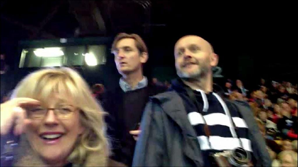 Helena Groll, Magnus Westberg och Lasse Johansson. Foto: Nils Lindström/Sveriges Radio.